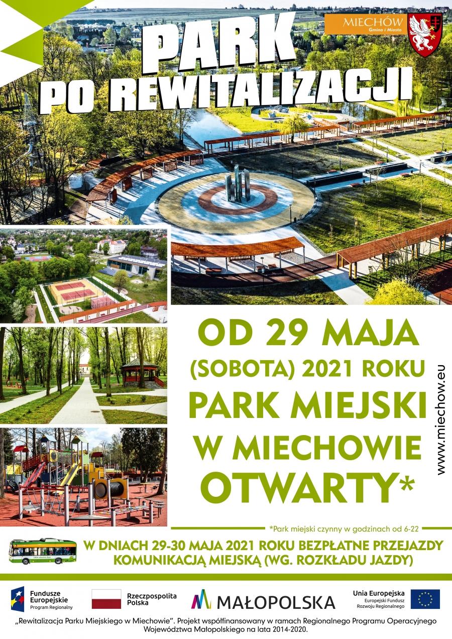 Park Miejski w Miechowie otwiera swoje podwoje