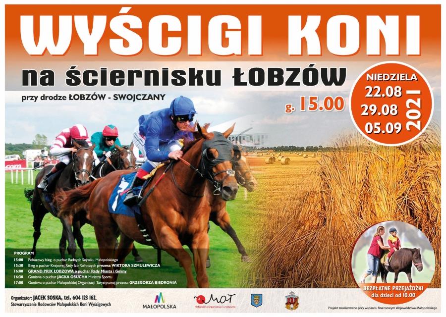 Wyścigi koni na ściernisku w Łobzowie
