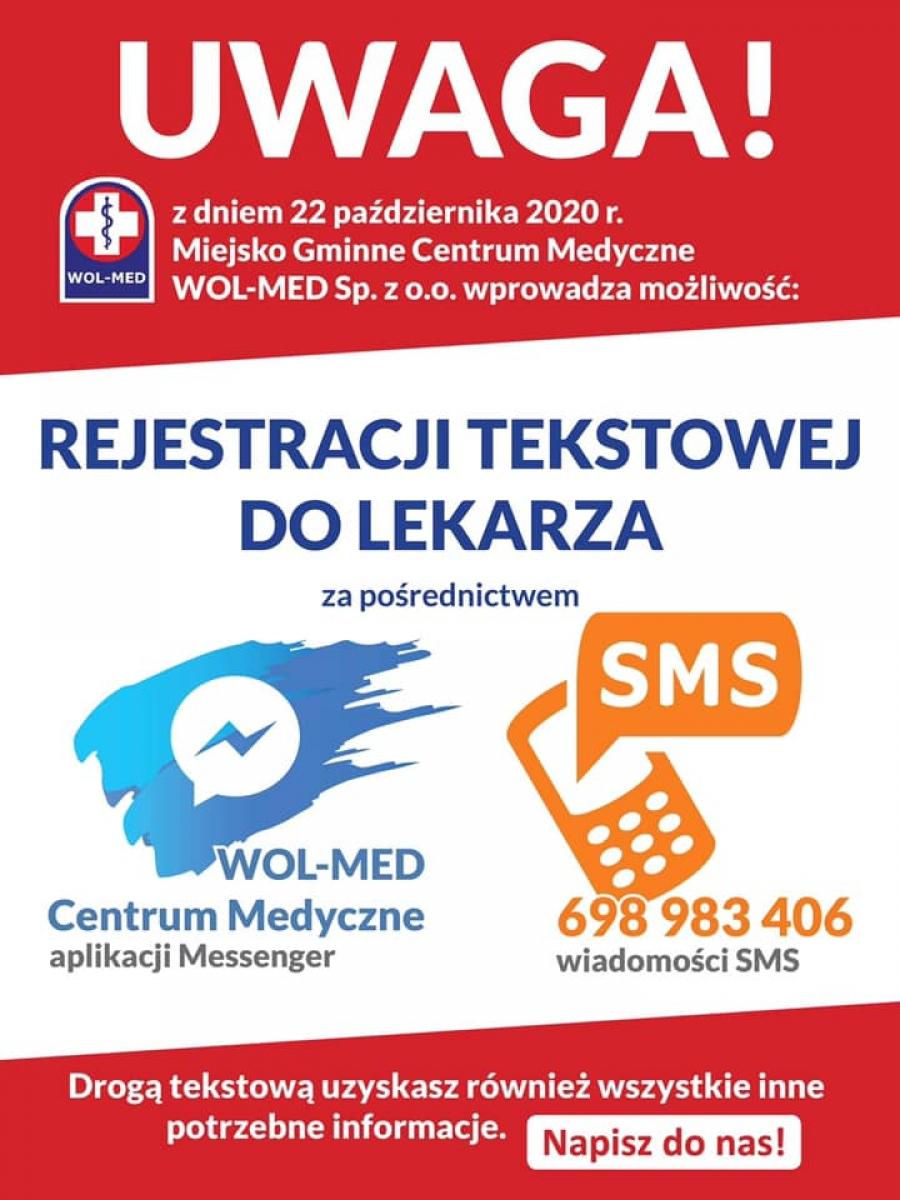 WOL-MED uruchamia rejestrację tekstową do lekarza